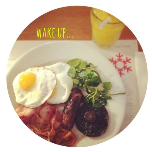 wake up... canteen