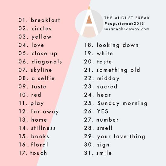august break topics 2013