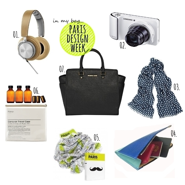 in my bag... parisdesignweek