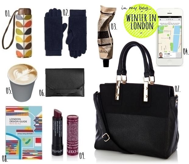 in my bag - winter in london