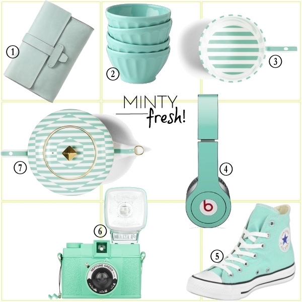 lust and covet - mint green