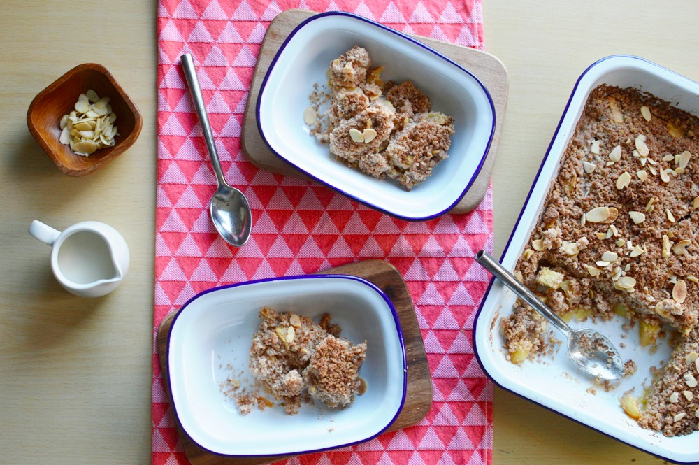 Dairy Free Apple Crumble Baking with Falcon Enamelware 010