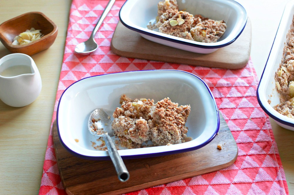 Dairy Free Apple Crumble Baking with Falcon Enamelware 012