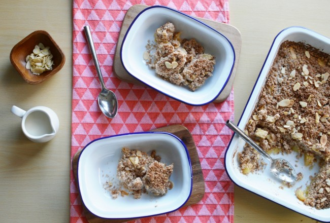 Dairy Free Apple Crumble Baking with Falcon Enamelware Slider