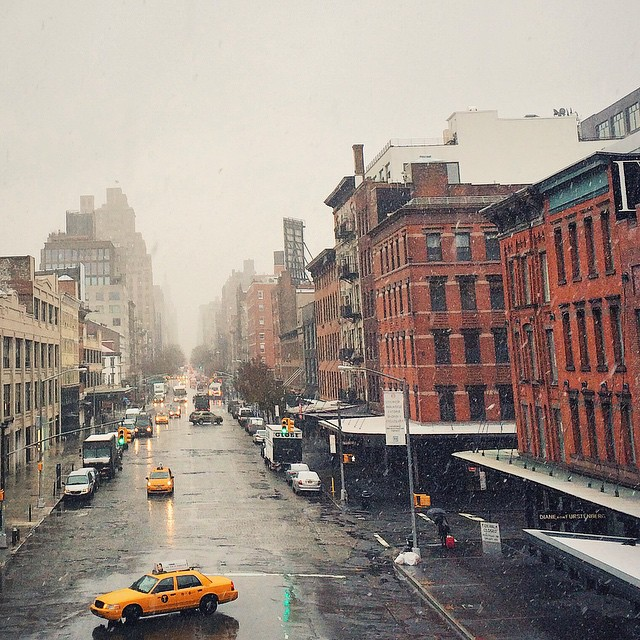 Snow joke, we walked the High Line in the sleet today ❄️? #NYC