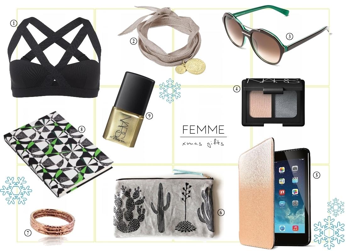 femme female womens christmas gift guide 2014