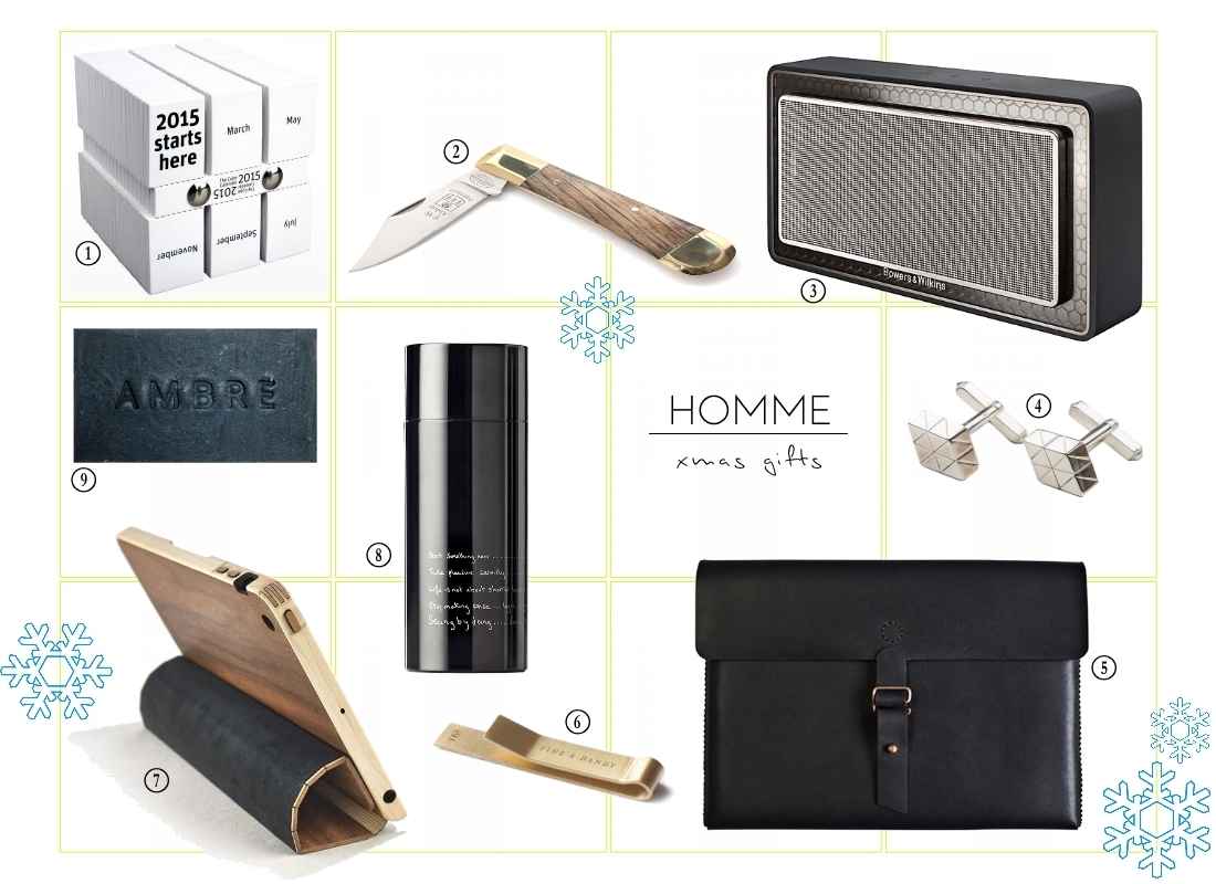 homme mens christmas gift guide 2014