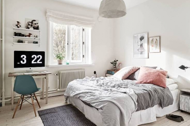 Bedroom inspiration from stadshem on pinterest for Bedroom makeover inspiration