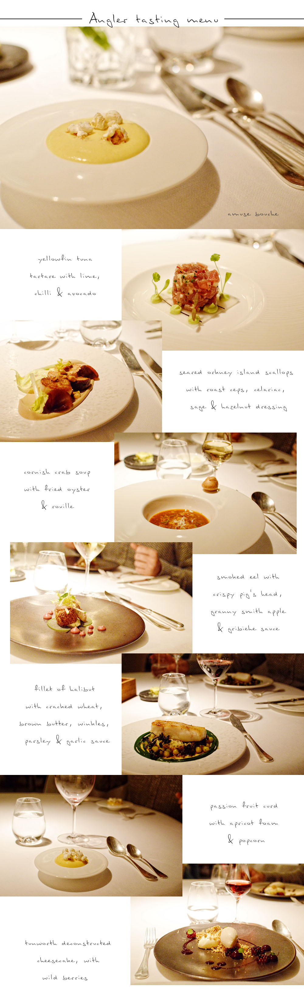 Angler tasting menu at South Place Hotel 01