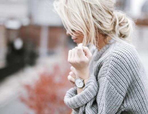 cozy grey knit day by happilygrey