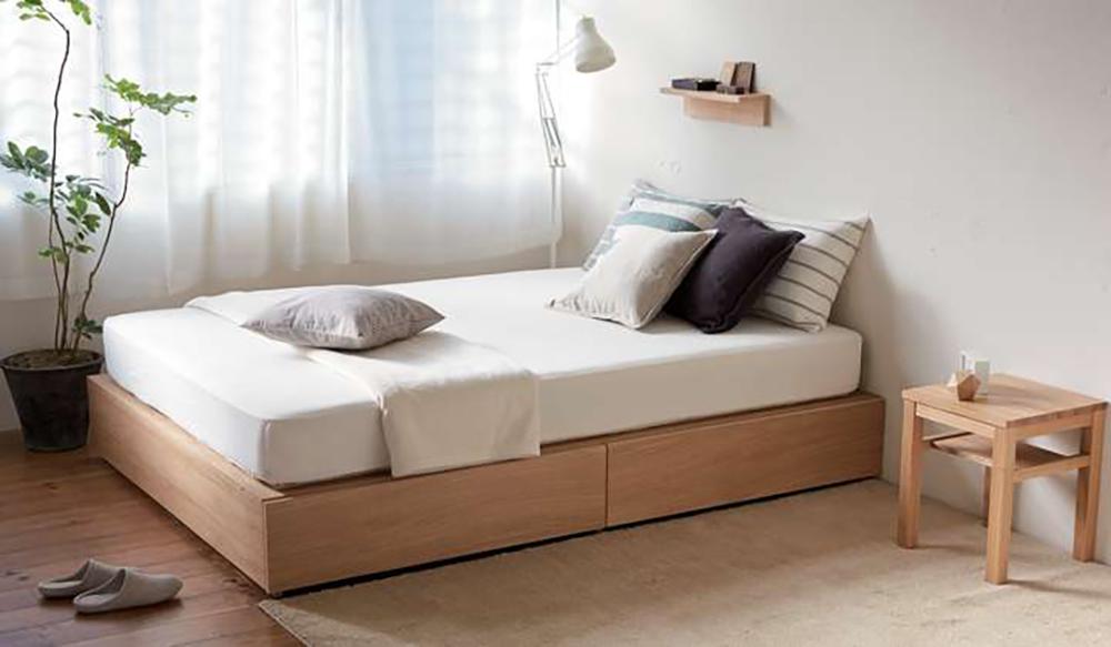 Muji Oak Storage Bed Fabric Of My Life Uk Interior